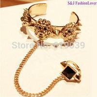 Super lion head rivet belt ring bangles open bangle