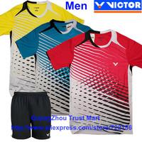 VICTOR 2013 Sudirman Cup /South Korea's National Team badminton shirts o-neck &pants Men's / badminton clothes