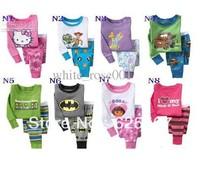 Hot sell Hot New style baby pajamas kids jumpsuits body suit kids sleepwear baby boy/girl pyjamas, 6sets/lot