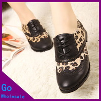 2013 Winter New Arrival Women Vintage Style Casual Boots Leopard Print Dot Splicing Patterns Shoes Wholesale