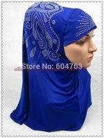 HP017 Fashion 70cm arabic hejab ONE PIECE LONG muslim HIJAB