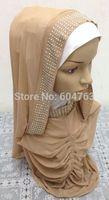 JN013 Fashion NEW arabic hejab ONE PIECE LONG muslim HIJAB