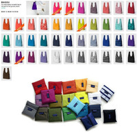 Free shipping, Candy-colored vest shopping bags, Shelves bag, Folding bag, Portable package, Can be customized