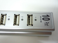 HOT SELL 10 ports High Speed USB2.0 USB HUB With adapter