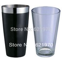 Free Shipping Stainless Steel cocktail shaker, Glass Shaker vinyle wrap, PVC cover TIN-Glass Shaker, Boston Shaker