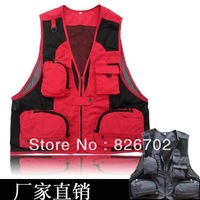 Wholesale fishing vest fine mesh outdoor leisure  photography hunting vest fishing clothing