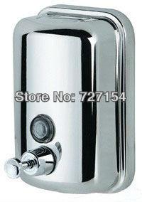 Polishing with lock satin finish Manual Hand Soap Dispenser, Washroom S. Steel 304 Liquid Soap Dispenser(China (Mainland))