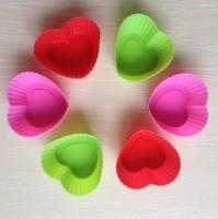 Free shipping 12PCS Heart  shape Muffin Sweet Candy Jelly fondant Cake chocolate  Mold Silicone tool Baking Pan