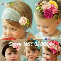 10pcs/lot Top Baby Headband Cotton Elastic Flower Headband Kid's Baby Girls Headwear infant Hairband Free Shipping
