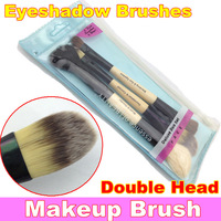 3Pcs Makeup Beauty Cosmetic Deluxe Double Head Eyeshadow Brushes Set  +  Free Shipping