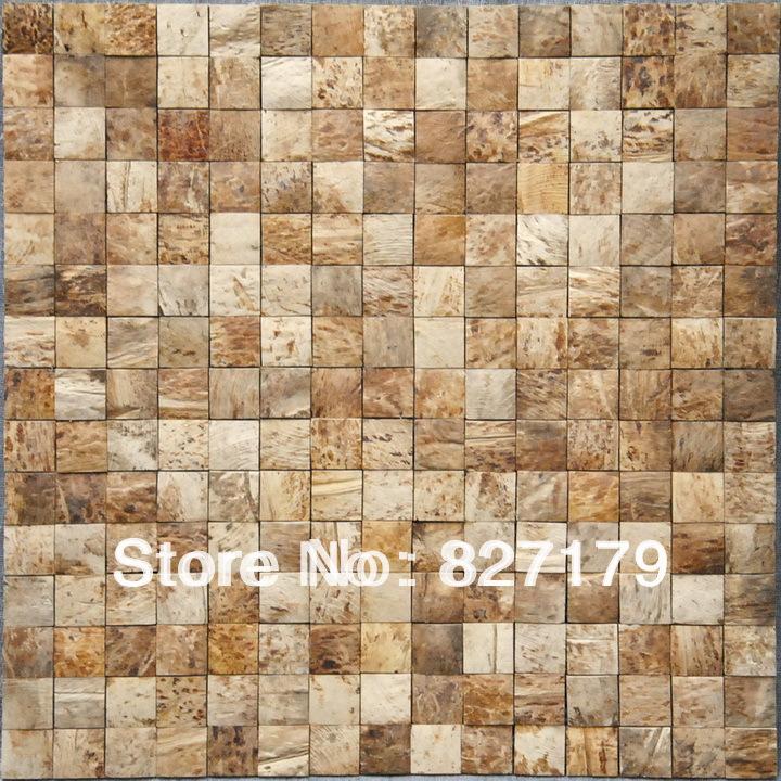 De coco de color blanco panel de madera mosaico de en - Mosaico de madera ...