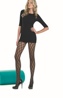 Sheer diamond sexy pantyhose great patterned tights for girls and ladies free shipping black color brand new 2013 hot sale