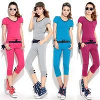 2013 hot-selling Korean women summer sports suit women's leisure suit sportswear Big Size XL XXL women sports set
