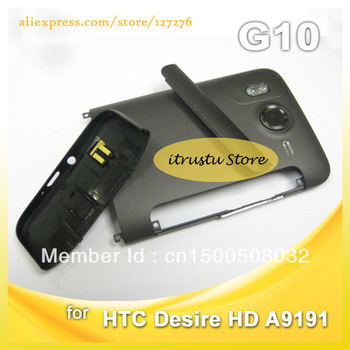 Replacement Original mobile phone Full housing cover For HTC Desire HD A9191 G10 Battery Door Black Colour HK Post FreeShip