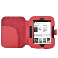 Pu lichi leacher  PU leather pouch  for Noble Nook 2 case for Noble Nook 3G simple touch 1piece/lot