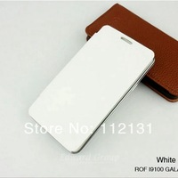 For Samsung Galaxy S2 i9100 back cover flip leather case battery housing case 100pcs Free DHL Shipping