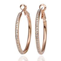 18k Gold Plated Earring High Quality Rhinestone Crystal Earrings Wholesale Fashion Jewelry 18krgpe085