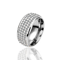 Couple Ring Austrian Clear Crystal Jewelry Fashion 18K Platinum Plated High Quality Wedding Band Promotion 18KGP R020