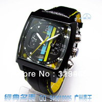 100% Brand  Automatic caliber 12 LS Men's mechanical watch RACING SPORT watches  black LEATHER