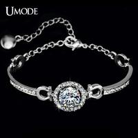 UMODE Charm Hearts & Arrows perfect cut 3.5 carat Swiss CZ Bracelet UB0012