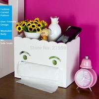Free Shipping Home storage tissue box desktop storage box multifunctional table napkin pumping paper box