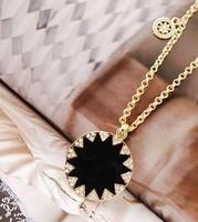 (Min order $5,can mix) Vintage Austra Sun Necklace Black Goddess Pendant Apollo Necklace Free Shipping