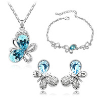 free shipping butterfly jewelry set,Tz-1115