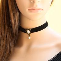 Q28 Handmade DIY Vintage Palace Pearl Gothic Necklace Pendant Choker Design Accessories Female Bijouterie Wholesale Store