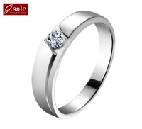 GS brand JZ-10 free shipping Delicate Brilliant Swiss Gem & platinum plated 925 sterling silver female men/women wedding rings