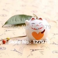 Jingdezhen ceramic ,jewelry ,cat windbell, wind chime, folk style,lovely cat, cute couple gift, on sale~