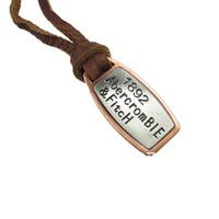 Wholesale(Min.Order $15)100% Genuine Leather 2013 Men Long Necklace PUNK Vintage Leather Necklace Brand Pendant Gifts VN024