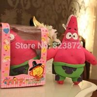 Free Shipping 18cm Voice Recorder Plush Toy Spongebob Stuffed Animal Patrick Star Cartoon Plush Talking Plush Toy Childrens Toys