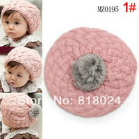 5pcs/lot  Christmas Gift Hat 4 colors Fashion Children Baby Girls Boys Kids Knit Crochet Beanie Winter Warm Hat Beret Cap Hat