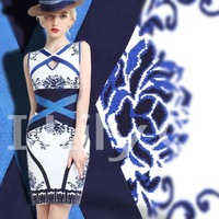 Missexy Hot HL Blue and White Porcelain Print Fashion Bandage Dress Elegant Formal Evening Dresses HL256
