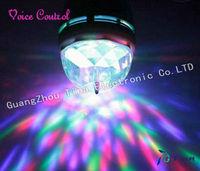 4PCS 3W E27 Full Color LED Crystal Rotating Stage Light DJ Lamp Light Bulb Stage Lights Free Shipping wholesale