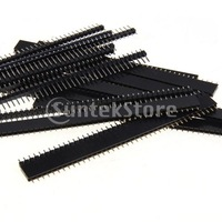 Free Shipping 10x Single Row Male and Female 40 Pin Header Strip 2.54mm