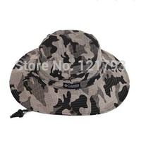 Free Shipping!! Outdoor hat casual bucket hat large brim Camouflage cap beach cap summer sunbonnet fishing cap big