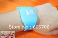High Quality 1 piece,Unisex Touch Screen LED Watches,Extreme Thin Wristwatch,With Jerry Strap, Candy color,Chinese Cheap Watches