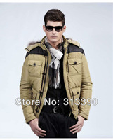 2013 MEN'S BRAND COAT, WINTER WARM JACKET COAT FOR MEN, CASUAL TOP QUALITY COAT, FREE CHINA POST SHIPPING