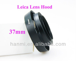 Free Shipping +Tracking Number Brand New 1PC 37mm Metal Vented Camera Lens Hood Thread for Leica M Lens(China (Mainland))