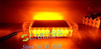 Newest 24LEDs Amber Light Waterproof Magnets Emergency Strobe Lightbar mini LED lightbar 25