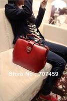 Free Shipping !2013 Women's Handbag Genuine Leather Doctor Bag Fashion Trend Vintage Bags Handbag Messenger Bag