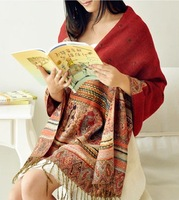 2014 New Desigual Winter Scarf ! Cotton and Pashmina Shawls and Scarves For Women Long Warm Cashmere Scarf Knitted Scarfs