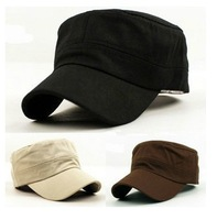 OUT085-05 Men Casual Hats Free Shipping High Quality Cadet Cap Military Breathable Summer Flat Outdoor Men Women Cotton Hat