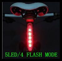 Free Shipping Brand Cycling Bike Bicycle Riding LED Taillight Warning Tail Saddle Light - 5 LED 4 Flash Mode CE Waterproof