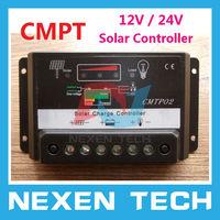 CMPT 10A 12V / 24V Solar Regulator Energy Panel Battery Auto Switch Charge Solar Controller