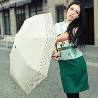 Free Shipping Ladies Sun Umbrella Three Folding  Umbrella Princess Umbrella Rain Umbrella  Top Quality  Factory  Promotion
