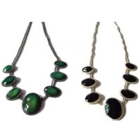 MixedLot $14 Free shipping Bohemian black and green  rhinestone necklace choke  alloy jewelry necklaces fashion lots