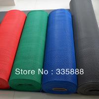 Mesh cutout slip-resistant mats pvc carpet bathroom swimming pool waterproof pad Green/Blue/Red