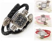 10 pcs Leather Bracelet Watch for Ladies QUARTZ Women Dress Watches Vintage Korean Watches LOT